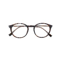 Boss Hugo Boss tortoise-shell effect round glasses - ブラウン