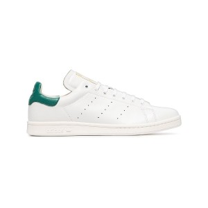 Adidas white and green stan smith recon leather sneakers - ホワイト