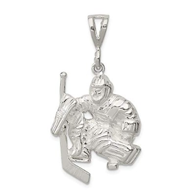 Beautiful Sterling silver 925 sterling Sterling Silver Hockey Goalie Charm comes with a Free...