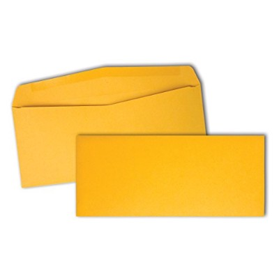 Kraft Envelope, Contemporary, #10, Light Brown, 500/Box (並行輸入品)