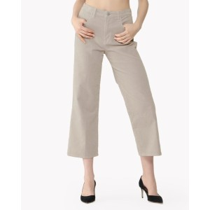 【Theory】J BRAND Corduroy Joan Hr Crop 【30%OFF】【J BRAND for theory luxe】ハイライズのワイドストレートクロップド。 グレー 大人...