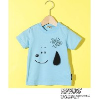 【3can4on(Kids)(サンカンシオン(キッズ))】 SNOOPY コラボ 耳Tシャツ OUTLET > トップス > Tシャツ ライトブルー