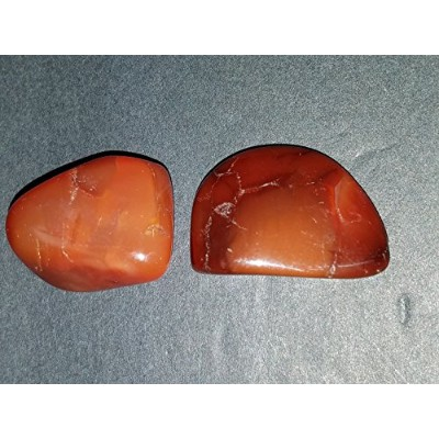 (# 7 ) 2pk Fire Agate aa-grade Medium Hand Polishedからメキシコ100 % Natural Healingクリスタルジェムストーンspecimens