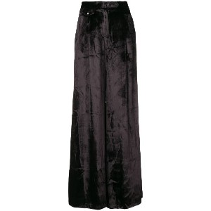 John Richmond velvet wide-leg trousers - ブラック