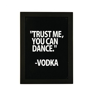 2つの会社51121-b11 – 19 Trust Me , You Can dance-vodka Framed壁アート、ブラック