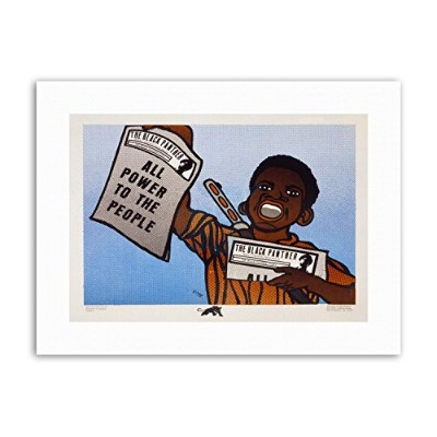 Civil Rights Newspaper Black Panther Party Political Canvas Art Print