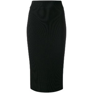 Calvin Klein fitted pencil skirt - ブラック