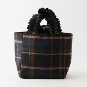 【ル ジュール(LE JOUR)】 【CACHELLIE】FRILL HANDLE CHECK TOTE(S) 【CACHELLIE】FRILL HANDLE CHECK TOTE(S) ネイビー