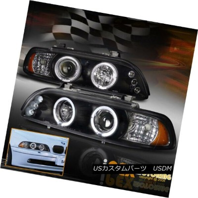 ヘッドライト 1997-2003 BMW E39 5-Series 525i 528i 540i Halo Projector Black LED Headlight 1997-2003 BMW...