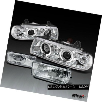 ヘッドライト 1992-1998 BMW E36 2Dr 4Dr 325 328 Projector Halo Head Lights+Fog Lamp 1992-1998 BMW E36 2Dr...