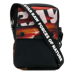 G-Star Raw Research printed messenger bag - ブラック