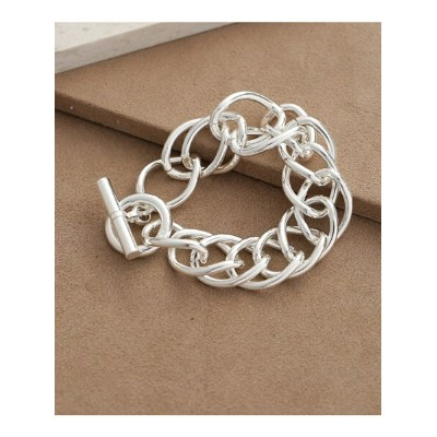on the sunny side of Large Dbl Curb Chain Bracelet ナノユニバース アクセサリー【送料無料】