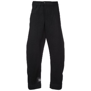 Julius dropped crotch tapered trousers - ブラック