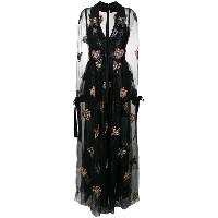 Elie Saab embroidered tulle gown - ブラック