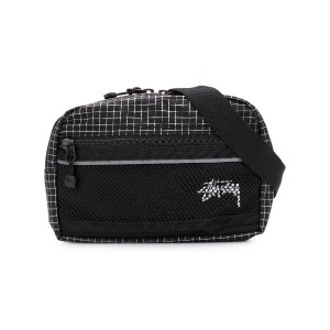 Stussy checked belt bag - ブラック