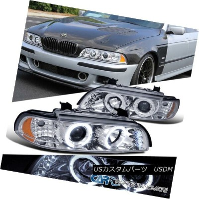 ヘッドライト BMW 01-03 E39 525i 528i 540i LED Halo Projector Headlights Lamp Chrome BMW 01-03 E39 525i...