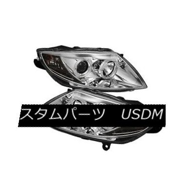 ヘッドライト BMW 03-08 Z4 Chrome Dual Halo Projector Headlights for Factory HID Models Only BMW 03-08...