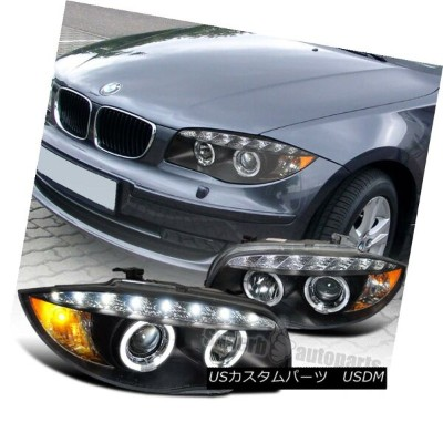 ヘッドライト 2007-2013 BMW E82 E88 128i 135i Halo Led Projector Headlight Black SpecD Tuning 2007-2013...