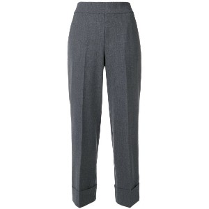 Peserico cropped tailored trousers - グレー