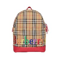 Burberry Kids Embroidered Archive Logo Vintage Check Backpack - マルチカラー