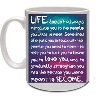 Largeホワイトコーヒーマグ16ozノベルティギフト–Life A Person To Become