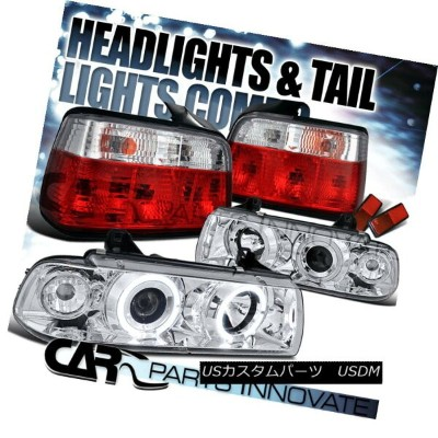 ヘッドライト 92-98 BMW E36 318i 328i Sedan Halo Projector Headlights+Red Tail Lamp 92-98 BMW E36 318i...