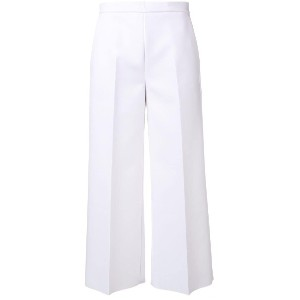 MSGM cropped trousers - ホワイト