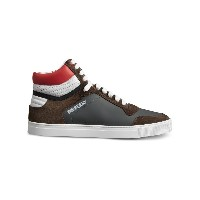 Burberry Suede and Leather High-top Sneakers - グレー