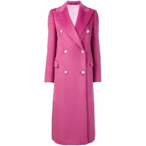 Tagliatore long double breasted coat - ピンク