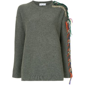 Dice Kayek embellished sleeve sweater - グレー