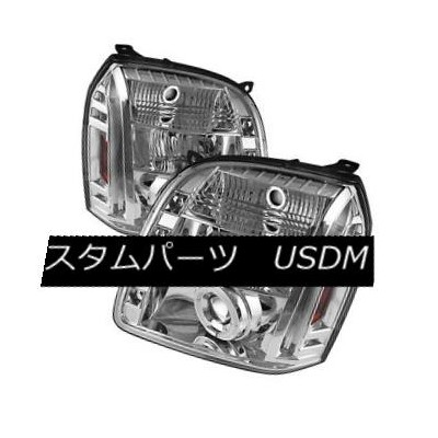 ヘッドライト GMC 07-14 Yukon Denali XL Chrome CCFL Halo LED Projector Headlights Lamp GMC 07-14ユーコンデナリXLクロ...