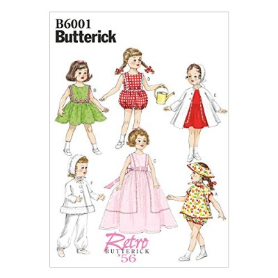 Butterick Patterns B6001OSZ Clothes Sewing Template for 18-Inch Doll Sewing Template, One Size Only...