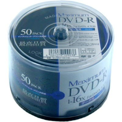 MAXIMUM DVD-Rデータ用4.7GB MX DR47 16X 50P