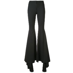 Vera Wang flared trousers - ブラック