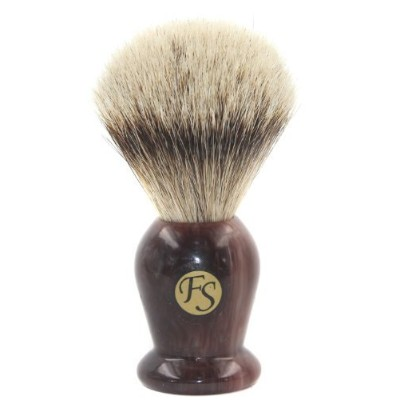 Fs Silvertip Badger Bristle Brush Faux Agate Handle,20mm Knot Comes w/ with F...