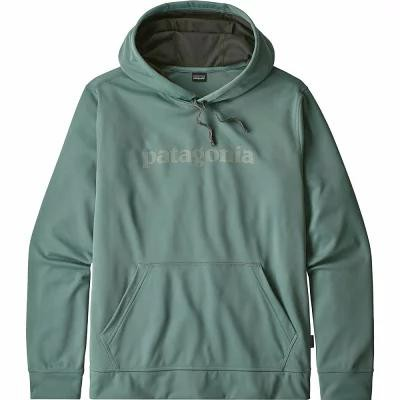 パタゴニア Patagonia パーカー Text Logo Polycycle Hoodies Shadow Blue