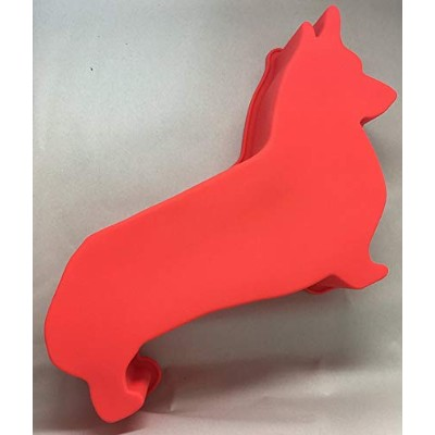 Corgi Dog Birthday Cake Pan Silicone Large Red