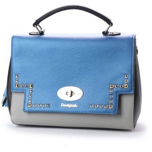【SALE 60%OFF】デシグアル Desigual WOMAN WOVEN HAND BAG (Blue) レディース