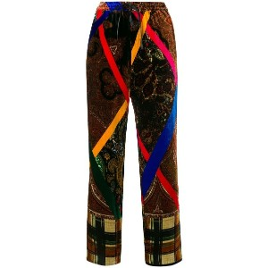 Pierre-Louis Mascia printed cropped trousers - ブラウン
