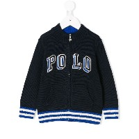 Ralph Lauren Kids Polo zipped cardigan - ブルー