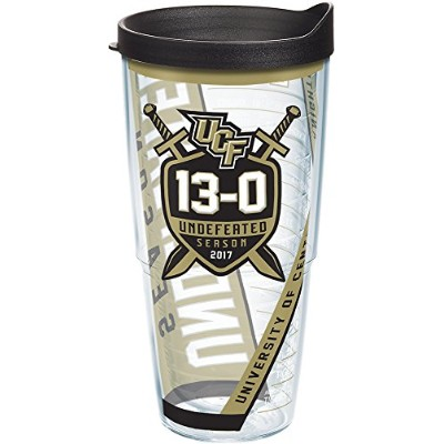 Tervis 24オンスUCF Knights Undefeated Tumbler with Lid 24オンスタンブラーブラック/ゴールド