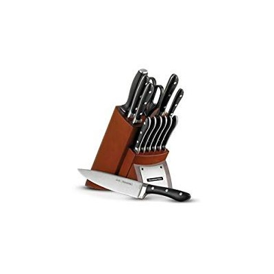 Tramontina 80008/ 547dsグルメforged-contemporary14Piece Cutlery Knife Set with Hardwoodカウンタブロック