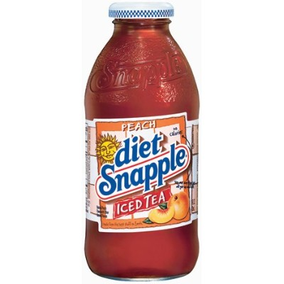 Snapple Ice Tea - Peach 16 Oz All Natural Flavor Real Brewed (Pack of 6) by Snapple