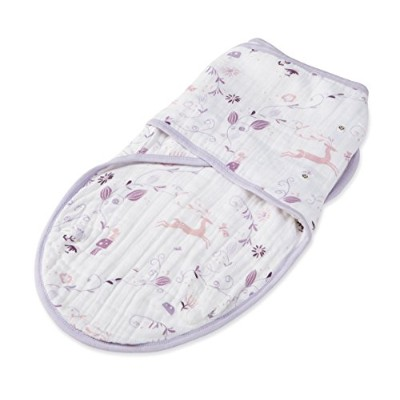 aden + anais Organic Easy Swaddle, Once Upon a Time, Small/Medium by aden + anais