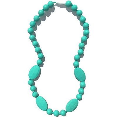 Nummy Beads - Jaden Silicone Teething Necklace - Under The Sea (Turquoise) by Nummy Beads