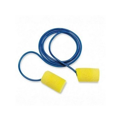E-A-R Classic Earplugs, Corded, PVC Foam, Yellow, 200 Pairs/Box by 3M (Catalog Category: Office...