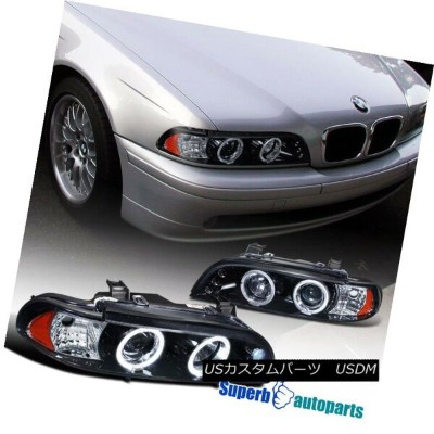 ヘッドライト 1996-2003 BMW E39 M5 Halo Projector LED Headlights Glossy Black / Smoke 1996-2003 BMW E39 M5...