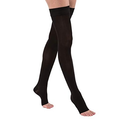 Jobst 115567 Opaque Open Toe Thigh High 30-40 mmHg Extra Firm Support Stockings - Size & Color-...