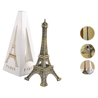 (Large: 25cm ) - Metal French Eiffel Tower Statue Figurine Replica Centrepiece Room Table Decor...