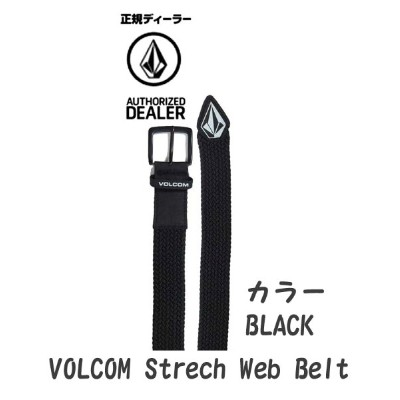 ■19 volcom ボルコム ベルト スノーボード 【Stone Stretch Belt 】J59519JB Japan Limited
